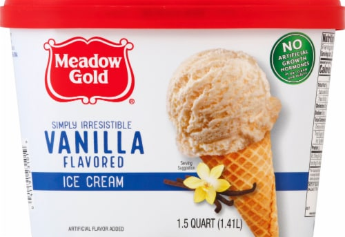 Meadow Gold Vanilla Ice Cream Perspective: front