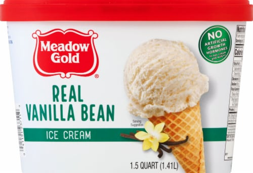 Meadow Gold Real Vanilla Bean Ice Cream Perspective: front