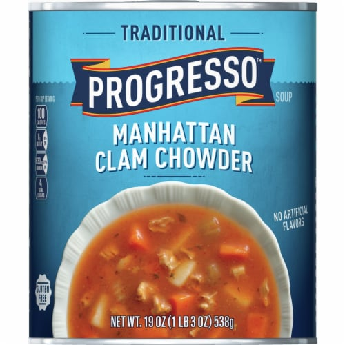 Progresso Traditional Manhattan Clam Chowder Perspective: front
