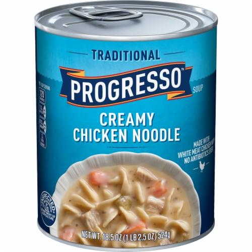 Progresso Traditional Creamy Chicken Noodle Soup Perspective: front