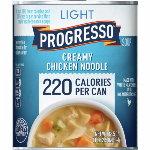 Progresso Light Creamy Chicken Noodle Soup Perspective: front