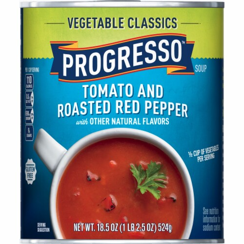 Progresso Vegetable Classics Tomato and Roasted Red Pepper Soup Perspective: front