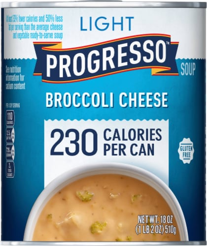Progresso Light Broccoli Cheese Soup Perspective: front