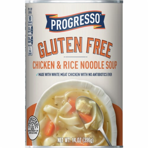 Progresso Gluten Free Chicken & Rice Noodle Soup Perspective: front