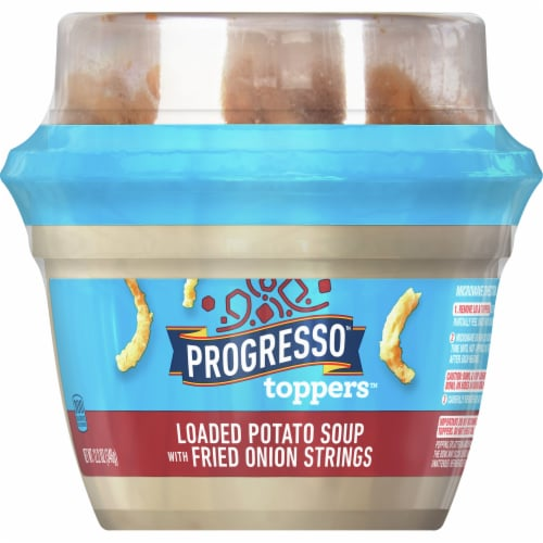 Progresso Toppers Loaded Potato Soup with Fried Onion Strings Perspective: front