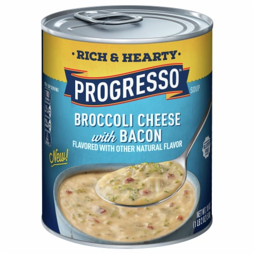Progresso Rich & Hearty Broccoli Cheese with Bacon Soup Perspective: front