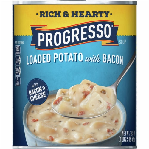 Progresso Rich & Hearty Loaded Potato with Bacon Soup Perspective: front