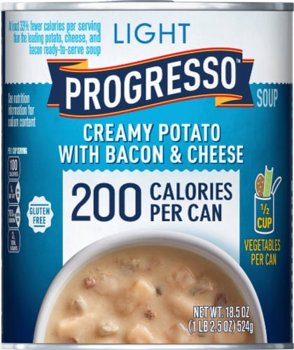 Progresso Light Creamy Potato with Bacon & Cheese Soup Perspective: front