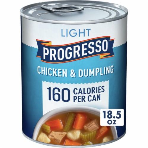 Progresso Light Chicken & Dumpling Soup Perspective: front