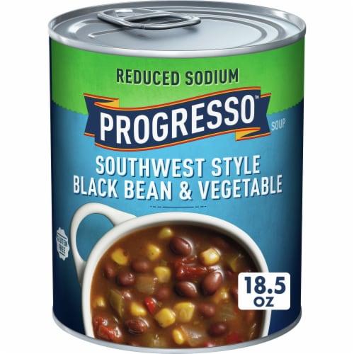 Progresso Reduced Sodium Southwest Style Black Bean & Vegetable Soup Perspective: front