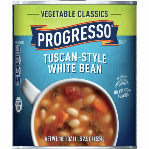 Progresso Vegetable Classics Tuscan-Style White Bean Soup Perspective: front