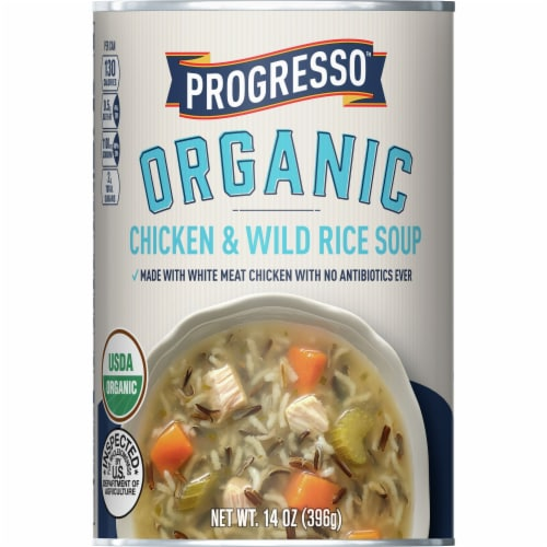 Progresso Organic Chicken & Wild Rice Soup Perspective: front