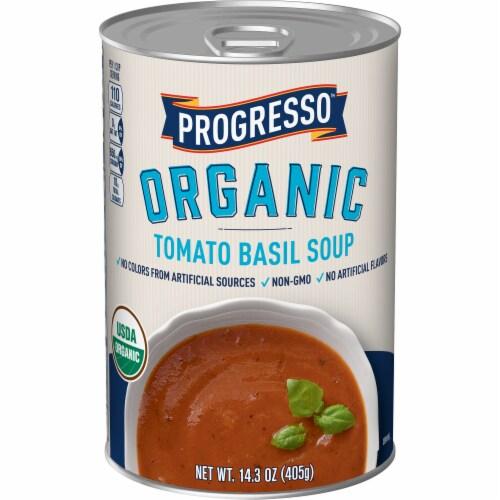 Progresso Organic Tomato Basil Soup Perspective: front