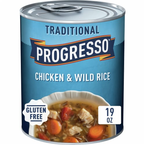 Progresso Traditional Chicken & Wild Rice Soup Perspective: front