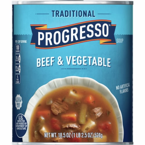 Progresso Traditional Beef & Vegetable Soup Perspective: front