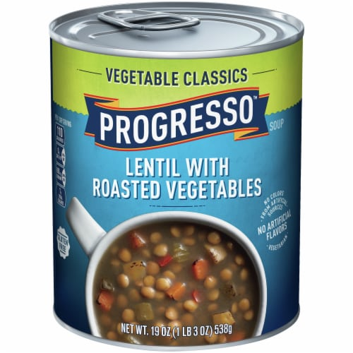 Progresso Vegetable Classics Lentil with Roasted Vegetables Soup Perspective: front