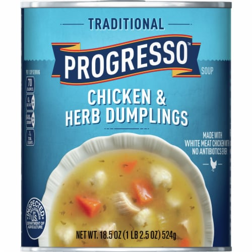 Progresso Traditional Chicken & Herb Dumplings Soup Perspective: front