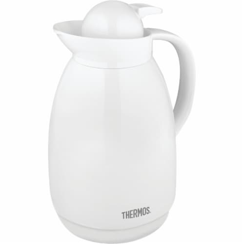 Thermos 710TRI4 1 Liter White Vacuum Carafe Perspective: front