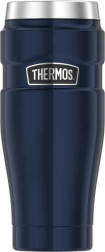 Thermos Stainless Steel King Travel Tumbler - Midnight Blue Perspective: front