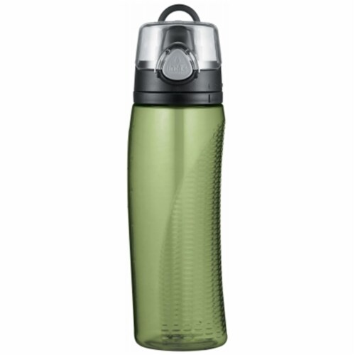 Thermos Green Intak Beverage Bottle With Meter Perspective: front