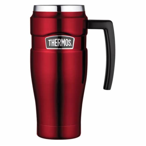 Thermos King Travel Mug - Cranberry Perspective: front