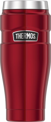 Thermos® Stainless King Vacuum Insulated Travel Tumbler - Cranberry Perspective: front