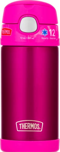 Thermos Stainless Steel Vacuum Insulated Straw Bottle - Pink Perspective: front
