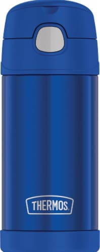 Thermos Stainless Steel Vacuum Insulated Straw Bottle - Blue Perspective: front