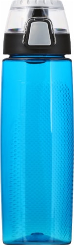 Thermos Hydration Bottle With Rotating Intake Meter - Blue Perspective: front