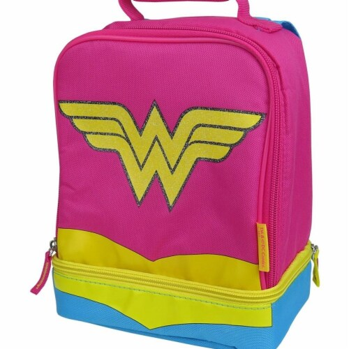 Wonder Woman lunchwwsftcp Wonder Woman Dual Lunchbox with Cape Perspective: front