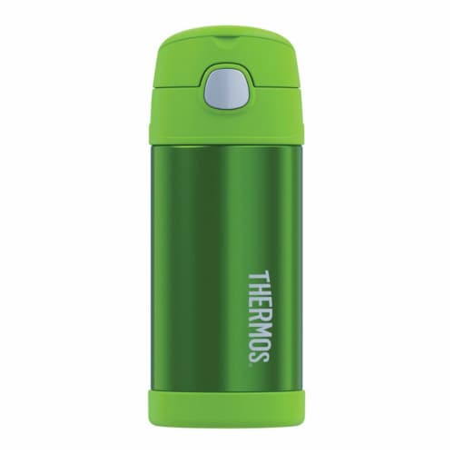 Thermos Stainless Steel Vacuum Insulated Straw Bottle - Lime Green Perspective: front