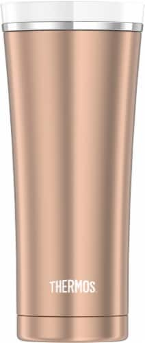 Thermos Sipp Stainless Steel Rose Gold Travel Tumbler Perspective: front