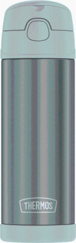 Thermos FUNtainer Stainless Steel Bottle with Spout - Cool Gray Perspective: front