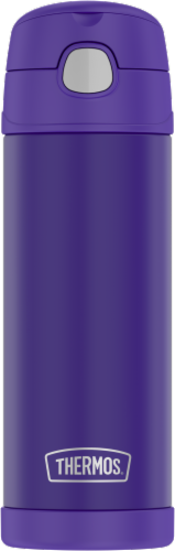 Thermos FUNtainer Stainless Steel Vacuum Insulated Hydration Bottle - Violet Indigo Perspective: front
