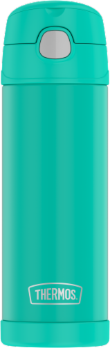 Thermos FUNtainer Stainless Steel Vacuum Insulated Hydration Bottle - Turquoise Perspective: front