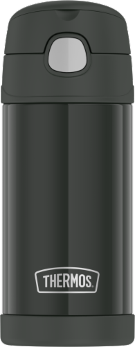 Thermos FUNtainer Stainless Steel Vacuum Insulated Hydration Bottle - Matte Black Perspective: front