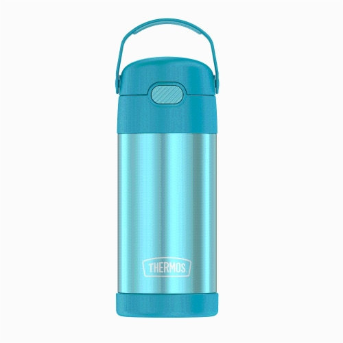 Thermos FUNtainer Stainless Steel Bottle - Teal Perspective: front