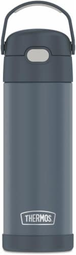 Thermos FUNtainer Vacuum Insulated Steel Water Bottle with Spout - Stone Slate Perspective: front