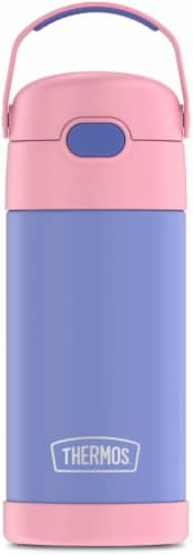 Thermos FUNtainer Stainless Steel Water Bottle - Purple/Pink Perspective: front