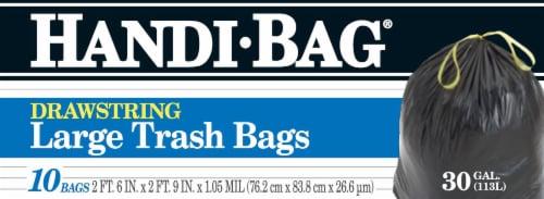 Handi-Bag Drawstring Large Trash Bags 10 Count Perspective: front