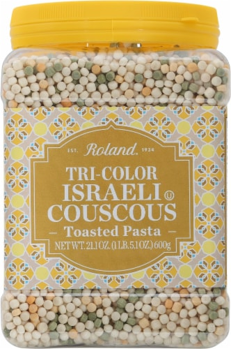 Roland Israeli Tri-Color Toasted Pasta Couscous Perspective: front