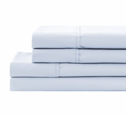HD Designs 300 Thread Count Cotton Sheet Set - 4 Piece - Arctic Ice Perspective: front