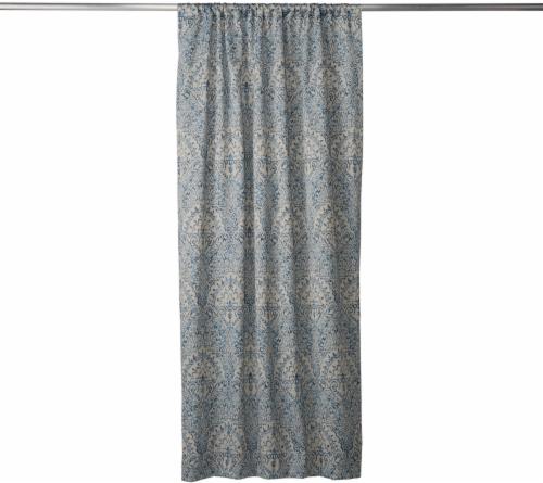 Modavari Home Fashions Montrose Poletop Window Panel - Indigo Perspective: front