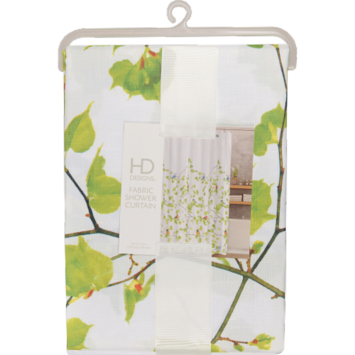HD Designs Terrasse Fabric Shower Curtain Perspective: front