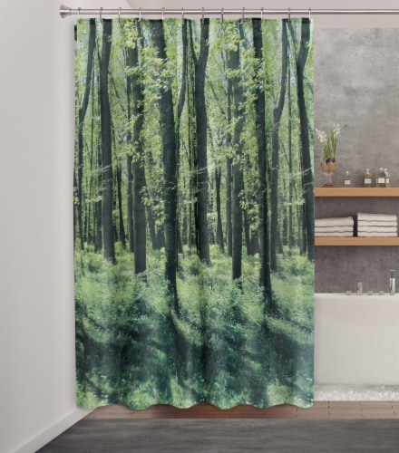 HD Designs Fabric Shower Curtain - Foresta Prisma Perspective: front