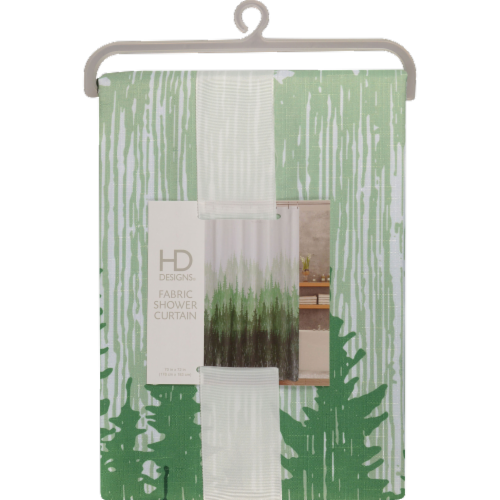 HD Designs® Pinehill Fabric Shower Curtain Perspective: front