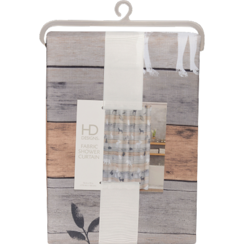 HD Designs® Underwood Fabric Shower Curtain Perspective: front