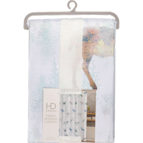 HD Designs® Forestville Fabric Shower Curtain Perspective: front