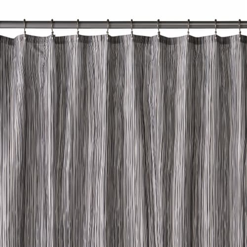 HD Designs Oodle Fabric Shower Curtain - Gray Perspective: front