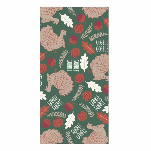 Holiday Home® Gobble Print Dual Kitchen Towel Perspective: front